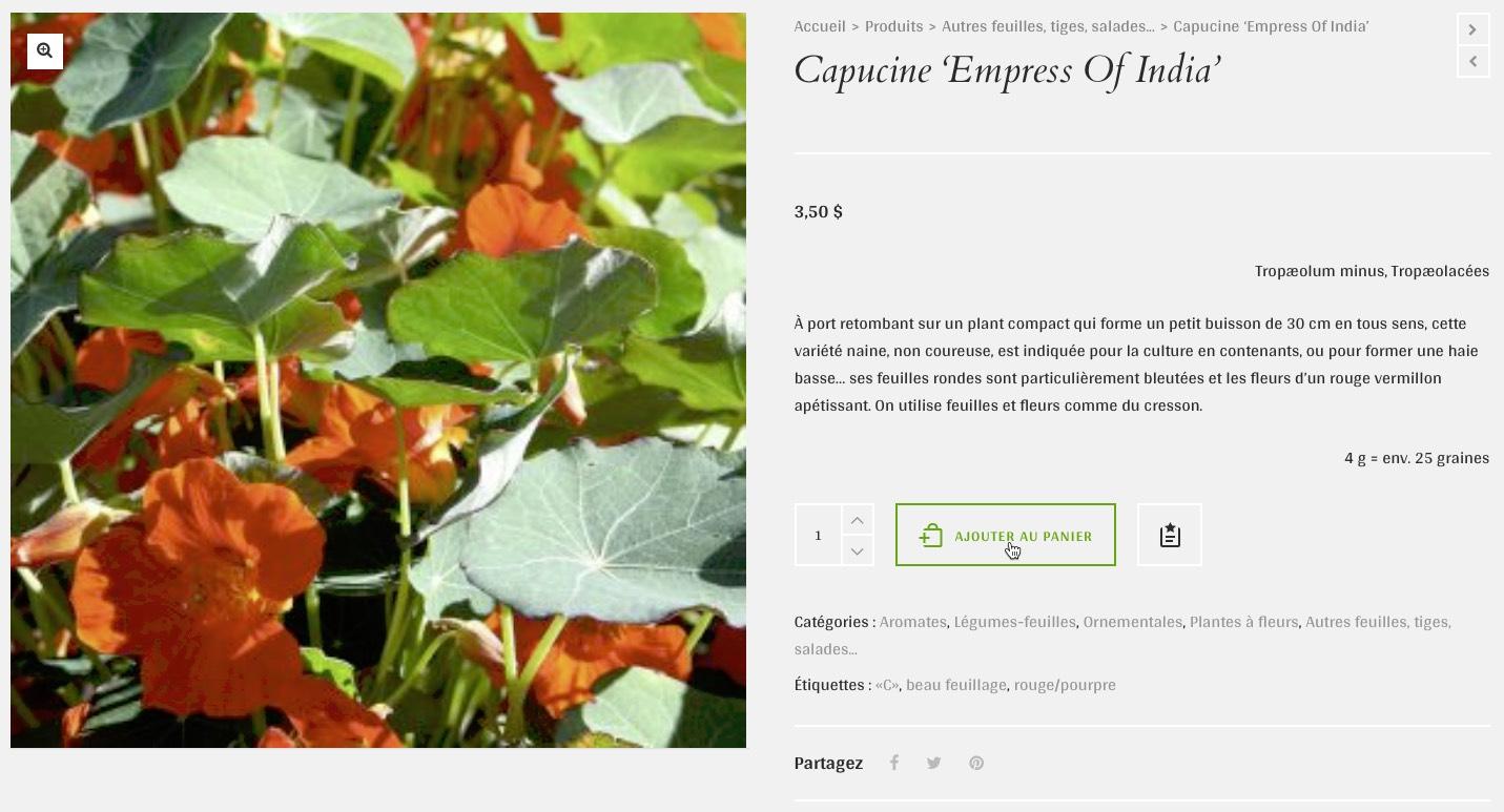 Instructions pour commander la soci t des plantes for Commander des plantes